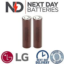 2 x GENUINE LG HG2 18650 3000mAh 20/30A HIGH DRAIN IMR RECHARGEABLE Li BATTERIES