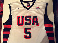 USA Vintage Olympic Basketball Team Jersey Vest Reebok Kidd #5 Official Replica