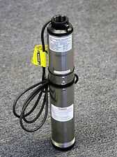 Hallmark Industries Deep Well Submersible Water Pump 1 hp 230V 60 Hz 33, 2 Wire