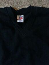 Boy Girl Children School Uniform black vneck sweatshirt age 11-12 top sport new