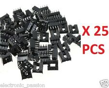 "25 PCS 8 Pin IC Socket 0.3"" Electronic Components for ne555 and simmilar"