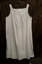 CROFT & BARROW 100% COTTON WOVEN LIGHTWEIGHT LONG SMOCKED LACE NIGHTGOWN~3X~NEW