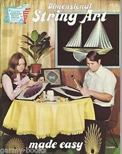 Dimensional String Art Made Easy HA 20 Vintage Instructions Patterns Book NEW