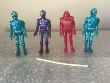 Vintage 1981 Tron  Flynn And Warrior 1981 (Tron movie) Lot Of 4 Look Read