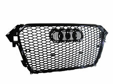 RS4 Style Honeycomb Gloss Black Front Grille for Audi A4 B8 facelift 2012-2014