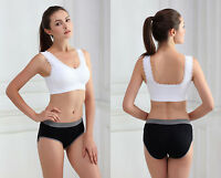 New Womens Ladies Seamless R Ahh Bra Leisure Lace Padded Vest Sports Yoga 8901
