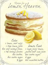 RECIPE FOR LEMON HEAVEN CAKE BAKING KITCHEN METAL PLAQUE TIN SIGN WALL ART 13