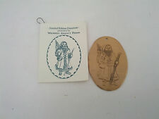 vintage wendell august forge first edition Father Christmas 1993 ornament bronze