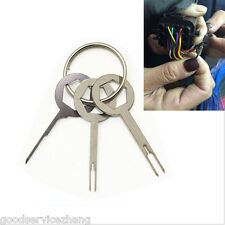 Removel Key Tool Kit 3pcs Car Electrical Terminal Wiring Crimp Connector Pin