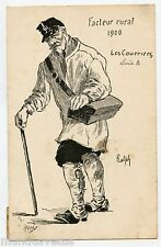 illustrateur RALPH . Les Courriers .FACTEUR RURAL 1900.La poste.  POSTMAN .