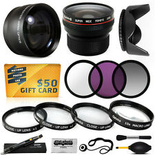 15PC Macro + Fisheye + Telephoto + Filters for Sony DCR-SX65 DCR-SX85 HDR-CX7
