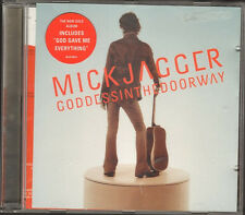 MICK JAGGER Goddessinthedoorway  NEW CD POSTER & INLAY 2001 Rolling Stones