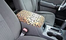 Center Console Armrest Cover in Cheetah or Zebra Print CC-12 (Sample Photo) Lid