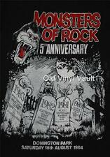 AC/DC - Monsters Of Rock 1984,Donington Park Uk 5th Anniversary  poster print