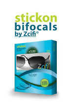 Stick on Bifocals by Zcifi Lenses +3.00 - FREE CASE