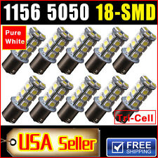 10 X Car RV Trailer White 1156 BA15S 5050 18smd LED Light Bulb 7503 1141 1073