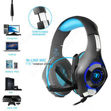 With Mic Gaming Headset Stereo Audio Over-Ear Earphone For Mobile Phone PS4 PC