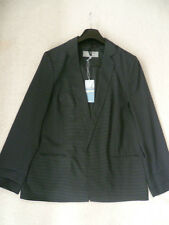 Marks and Spencer Striped Jacket Grey Size 14