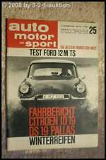 AMS Auto Motor Sport 25/64 Ford 12 M TS Citroen DS 19 Ford Mustang