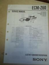 Sony Service Manual~ECM-Z60 Electret Condenser Microphone~Original~Repair