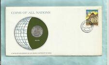 #D55. Stamped Envelope & Coin - Bolivia