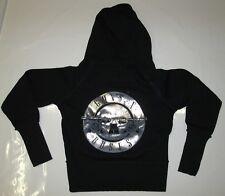 AMPLIFIED GUNS N ROSES Silber Drum Logo ZIP HOODIE Kapuze SWEET SHIRT JACKE M 38