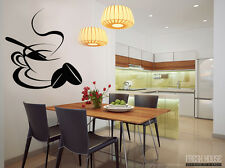 Decal Vinyl Wall Sticker Decor Art Home Removable Kitchen Coffee Tea Family Love