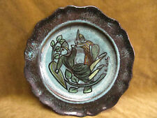 Assiette faience Accolay décor médieval-french pottery plate