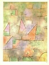 "Paul Klee Authentic Vintage Print 1972 ""Port and Sailing Boats"""
