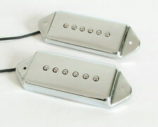 Artec Alnico 5 P90 Dog Ear Arched Pickup set Chrome