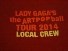 Lady Gaga's The Art Pop Ball Tour 2014 Local Crew T-shirt Size XL