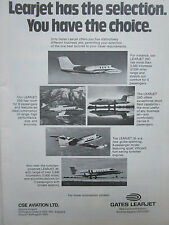3/1974 PUB GATES LEARJET WICHITA LEARJET 35 36 24D 25C 25B AIRCRAFT ORIGINAL AD