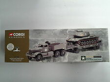 CORGI DIAMOND T TANK TRANSPORTER M4 SHERMAN TANK NEW