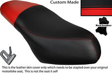 RED & BLACK CUSTOM FITS PIAGGIO DIESIS 100 DUAL LEATHER SEAT COVER ONLY