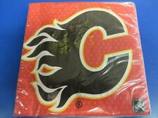 Calgary Flames NHL Pro Hockey Sports Banquet Party Red Paper Luncheon Napkins