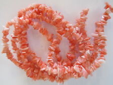 3 Strands Genuine Salmon Coral Chip Beads - Undyed & All Natural Angel Coral