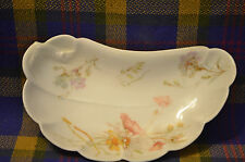 Vintage  HAVILAND & CO Limoges China Crescent Shaped Bone Dish