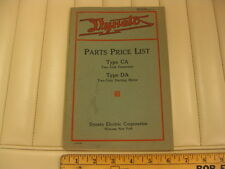 1917 1918 1919 DYNETO Generator and Starter Parts List Manual