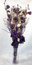 95 cm Cream & Plum Dried /artificial Flower Bouquet Conservatory, lounge gift
