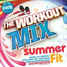 THE WORKOUT MIX : SUMMER FIT - V/A 2CDs (NEW) Fitness Gym Music Inc Avicci Psy