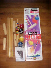 New Forster Croquet 4 Player Wooden Outdoor Sports Fun Family Game Set Rules