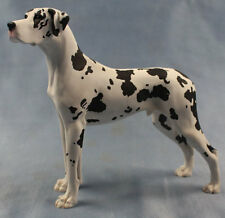 deutsche dogge figur hund North light hundefigur great dane alabaster harequin