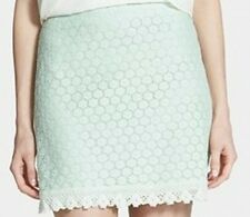 Frenchi NEW Mint Green Womens Small S Floral Lace Straight Skirt $38 091 DEAL