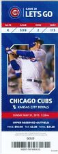 2015 Cubs vs Royals Ticket: David Ross hit RBI single with one out in the 11th