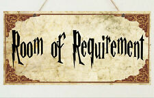 Room of Requirement Plaque Sign Gift - Harry Potter Room House Present