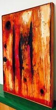 Quadro picture arte contemporanea tecnica mista pannello legno loft 50 x 65 cm
