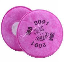 1 Paar 3M 2091 Partikelfilter P100 für Atemschutzmasken 6000, 7000 Serie Neu