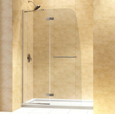 "DREAMLINE""45"" AQUA ULTRA FRAMELESS SHOWER SHIELD DOOR 5/16"" GLASS"