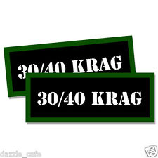 """30/40 KRAG Ammo Can 2x Labels Ammunition Case 3""""x1.15"""" stickers decals 2pack"""