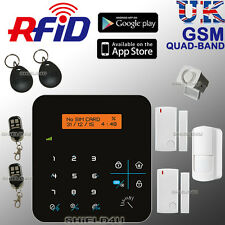 WIRELESS LCD RFID GSM AUTODIAL OFFICE HOME HOUSE SECURITY BURGLAR INTRUDER ALARM